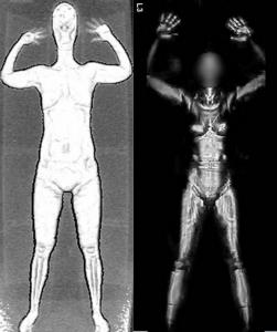 TSA Backscatter Scanner Sample Images